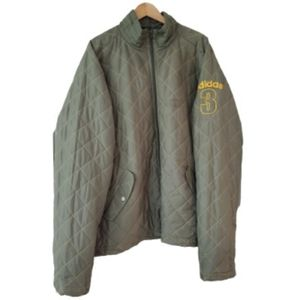 Adidas Quilted Stitching Olive Green Size XL